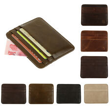 PU Leather Casual Credit Card Holder Small Wallet Money Clip Bag