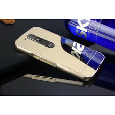 Motorola Moto G4, G4 Plus Luxury Aluminium Metal Golden Bumper Mirror Case