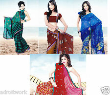 Ishita Fashions Georgette Saree With Blouse