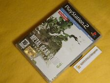 METAL GEAR SOLID 3 SNAKE EATER Playstation 2 PS2 PRIMA STAMPA NUOVO SIGILLATO