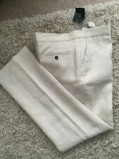 Aquascutum Ladies Beige Linen Trousers Size 16  New With Tags