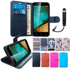 Wallet Flip Case Cover Leather Pouch Stand Card Slots For Vodafone Smart Prime 7