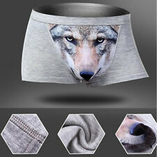 Manly Mens Wolf 3D Printed Boxer Briefs Underwear Shorts Trunks Underpants Pants