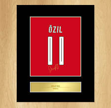 Mesut Ozil Signed Mounted Artistic Photo Display Arsenal