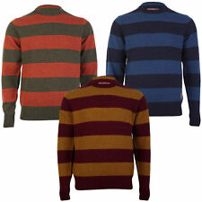 NEW TOKYO LAUNDRY MENS BANBURY CREW NECK STRIPED LAMBSWOOL SWEATER SIZE S-XL