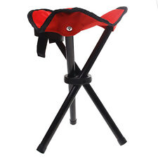 Outdoor Camping Fishing Travel Tripod Folding Seat Stool Chair Green/Blue/Red