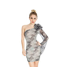 Womens one shoulder short party evening snake print bodycon cocktail dress