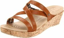 crocs A-LEIGH MINI WEDGE LEATHER Crocs Womens A-Leigh Mini Wedge Sandal
