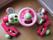 PINK ELC STEERING WHEEL TOY + LIGHTS & SOUNDS RRP£30 BUGGY DRIVER PUSHCHAIR