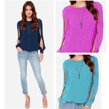 Trendy Loose Chiffon Top [Navy/Azure/DarkPink][S-3XL]