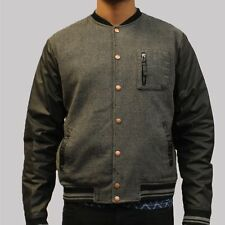 Mens Pearly King Victim Bomber Black Jacket - Varsity Style - RRP £100 - SALE