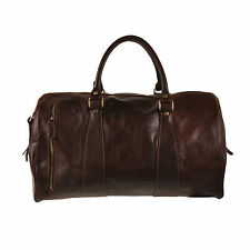 Pellevera borsa da viaggio in pelle borsone italian leather luggage bag duffle