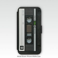 Retro Music Cassette Design Wallet Phone Case for iPhone / Samsung Galaxy