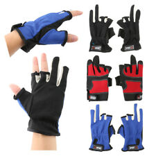 1 Pair of 3 Cut Finger Fishing Gloves Non-Slip Hunting Gloves Free Shipping
