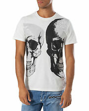 "Philipp Plein  ""BIPOLAR"" Herren T-Shirt - NEW! - White - ORIGINAL & NEU!!!"