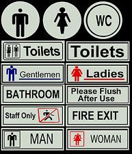 STAFF ONLY FIRE EXIT TOILETS PUB SHOP BUSINESS BATHROOM DOOR SIGNS NOTICE PLATE