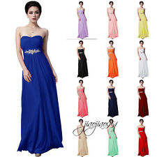 STOCK Cheap Formal Long Wedding Bridesmaid Dresses Prom Party Evening Gowns 6-20