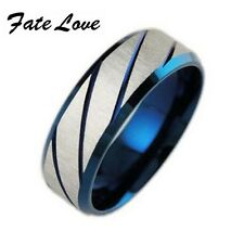 Fashion 316L Stainless Steel Superman Finger Rings Blue Men's Titanium Steel