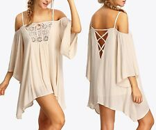 Vestito Copricostume Kaftan Donna Mini Dress Woman Cover up KAFT003