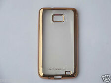 Transparent Soft Back Case Cover Colored Border for Samsung Galaxy S2 SII i9100