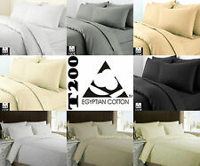 Luxury 100% Egyptian Cotton Duvet Quilt Cover Pillow Cases Bedding Set All Sizes