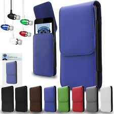 PU Leather Vertical Belt Case And Aluminium Headphones For Nokia N97 Mini