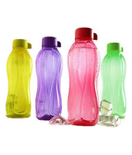 TUPPERWARE WATER BOTTLE - 1 Liter - AQUASAFE MULTICOLOUR