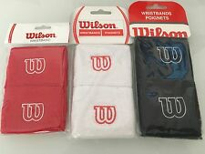 WILSON TENNIS SMALL WRISTBANDS-->Pack of 2! Available in colours red/white/black