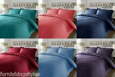 SATIN STRIPE T300 DUVET QUILT COVER WITH PILLOW CASES BEDDING SETS DOUBLE KING