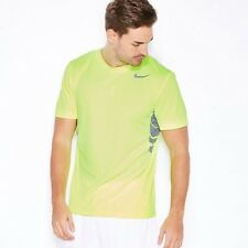 NIKE Vapor Mens SS T-Shirt Dri-Fit Top Volt Ltd Edition Gym Running RRP £34.99