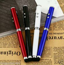 4in1 Laser Pointer Pen Light Beam 1mW Lazer cat toy stylus+Ballpoint Pen  *UK*