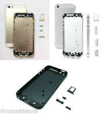 For iPhone 5 Housing Body Back Door Cover Frame Black White Silver Gold Golden