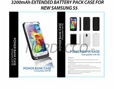 3200mAh External Battery Flip Charger Case For Samsung Galaxy S5 SM-G900F