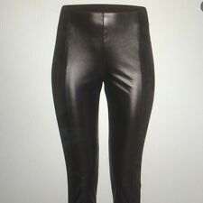 BN H&M BLACK Stretch Faux Leather and Suede Panel Leggings size uk 8 or 12