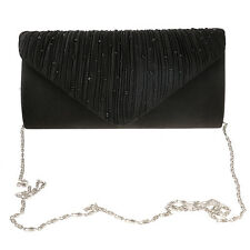 Women Envelopes Clutch Handbag Silk Evening Purse Shoulder Chain Bag