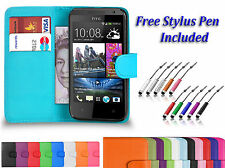 Premium Leather Book Flip Wallet Case Holder Cover  For HTC ONE A9 UK