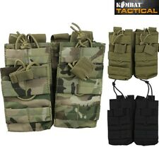 WEBBING MOLLE DOUBLE MAGAZINE AMMO POUCH X4 MAGS PAINTBALLING BRITISH ARMY CADET