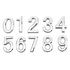 Silver Plastic Self-Adhesive House Hotel Door Number Plaque Sticky Numeric Digit