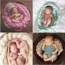 Hot Newborn Baby wool braid blanket Stuffer Carpet Basket Wraps Photography Prop