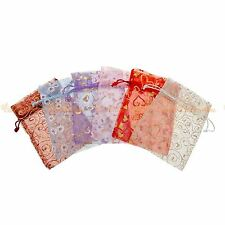 24pcs Luxury Organza Gift Bags Large 18x13cm Assorted Wedding Jewellery Pouch