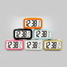 Battery Operated Temperature Calendar Luminous Alarm Clock with Backlight