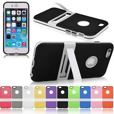 Apple iPhone 6 6S Case Colorful Soft Ultrathin TPU Kickstand Back Cover