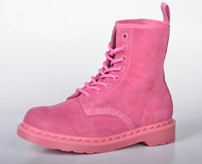 Dr Martens 1460Z Pink Fur Airwair Leather Boots Womens Girls New