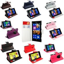 SYNTHETIC LEATHER FLIP WALLET SIDE OPENING PHONE BOOK CASE COVER FOR NOKIA LUMIA