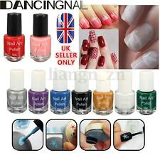 11 Colors 5ml Nail Art Manicure Stencil Template Stamp Stamping Varnish Polish