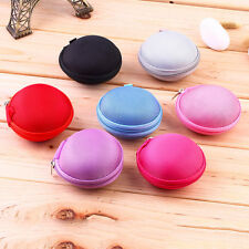Colorful Earphone Case Cover Pouch Carry Bag Memory card Pendrive case PUleather