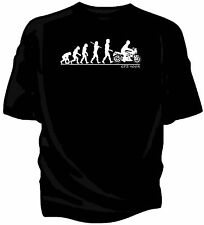 Evolution of Man, Kawasaki GPZ 900R classic motorcycle t-shirt.