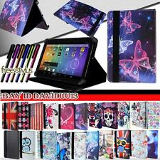 New Folio Folding Leather Stand Cover Case For Various Time2 Touch Models Tablet