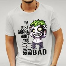 SUICIDE SQUAD STYLE JOKER 'HURT YOU' White T-SHIRT
