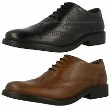 Uomo Hush Puppies Brogue Rockford Pelle Eleganti Con Lacci Largo Scarpe